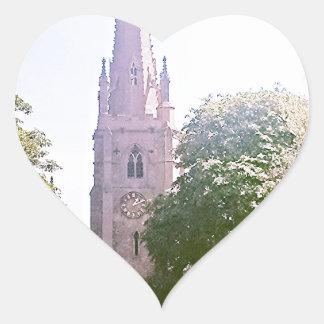 Flèche d'église autocollant en cœur