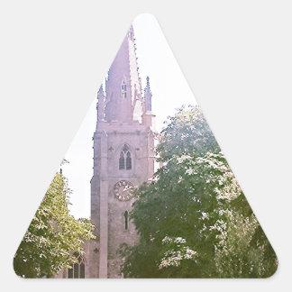 Flèche d'église autocollants en triangle