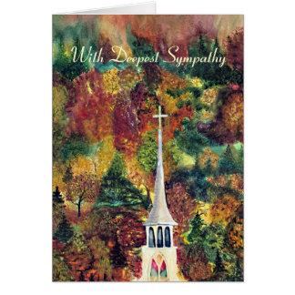 Flèche d'église de sympathie au Vermont Carte De Vœux