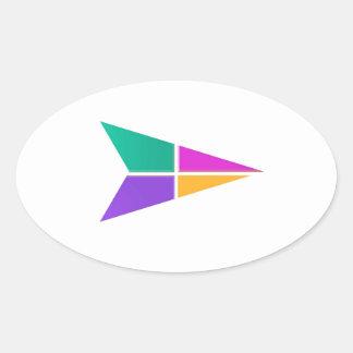 FLÈCHE magique : Graphiques colorés d'acclamations Stickers Ovales