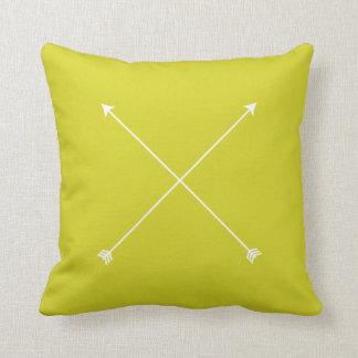 Flèche moderne Chartreuse minimale Coussin Décoratif