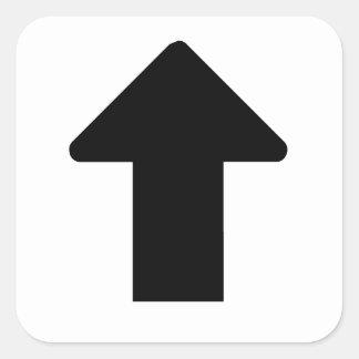 Flèche noire sticker carré