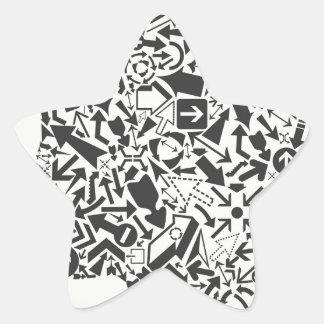 Flèche principale sticker étoile