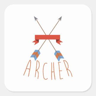 Flèches d'Archer Sticker Carré