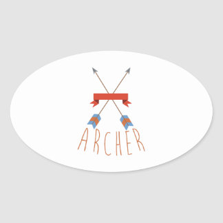Flèches d'Archer Sticker Ovale