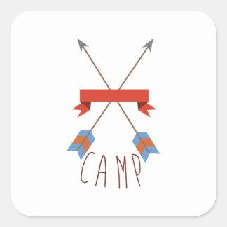 Flèches de camp sticker carré