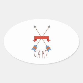 Flèches de camp sticker ovale