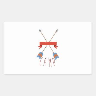 Flèches de camp sticker rectangulaire