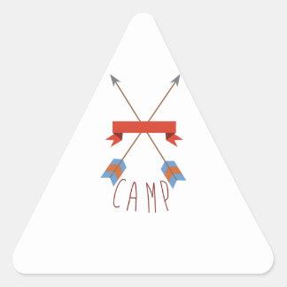 Flèches de camp sticker triangulaire