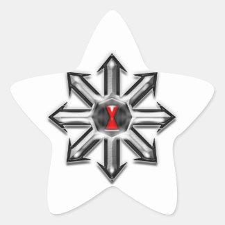 Flèches de chaos - veuve noire sticker étoile