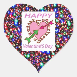 Flèches de coeur de cadeaux de heureuse sticker cœur