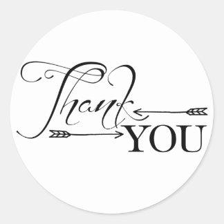 Flèches de Merci Sticker Rond