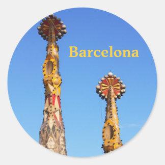 Flèches de Sagrada Familia Sticker Rond
