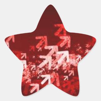 Flèches montantes avançant sticker étoile