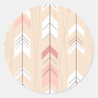 Flèches tribales sticker rond
