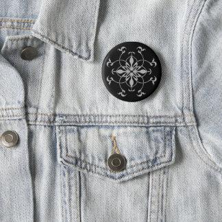 Fleur à la mode de kaléidoscope badges