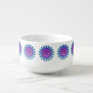 Fleur abstraite bol à potage