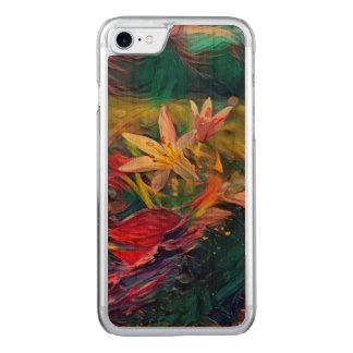 Fleur artistique coque carved iPhone 8/7