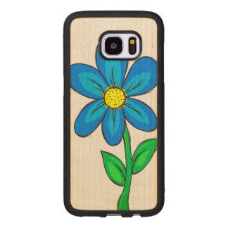 Fleur artistique de ressort coque en bois galaxy s7 edge