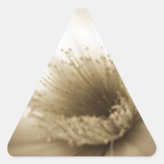 Fleur blanche de sépia sticker triangulaire