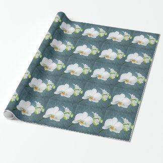 Fleur blanche d'orchidée de zen papiers cadeaux noël