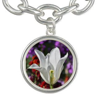 Fleur blanche en collier de fleur bracelets