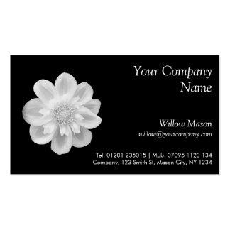 Fleur blanche sur le noir - carte de visite