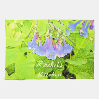 Fleur bleue personnalisée de la Virginie Bells Serviettes Pour Les Mains