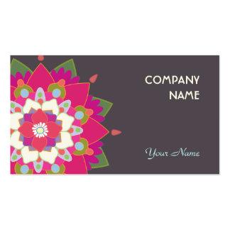 Fleur colorée de mandala de Lotus mignonne Carte De Visite Standard