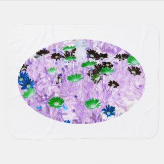 fleur colorée multi de champ de marguerites de ger couvertures pour bébé