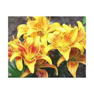 Fleur, copie enveloppée de toile