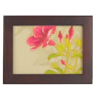 Fleur d'Allamanda sur l'arrière - plan modifié la Boîte À Souvenirs