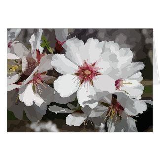 Fleur d'amande de ~ de CARTE POUR NOTES