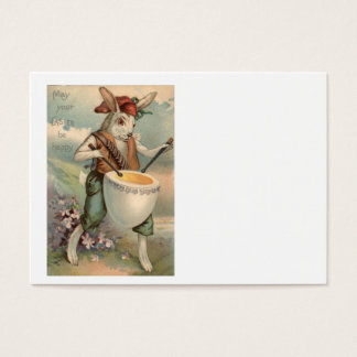 Fleur de batteur de tambour d'oeufs de lapin de cartes de visite