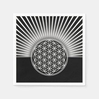 Fleur de DES Lebens de la vie/Blume - le blanc Serviette En Papier