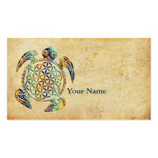 Fleur de DES Lebens - tortue de la vie/Blume Carte De Visite Standard