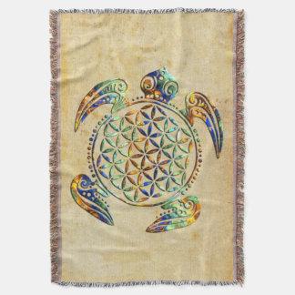 Fleur de DES Lebens - tortue de la vie/Blume Couvre Pied De Lit
