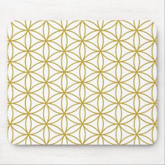 Fleur de grand or de Ptn de la vie sur le blanc Tapis De Souris