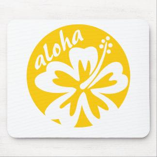 fleur de jaune aloha tapis de souris