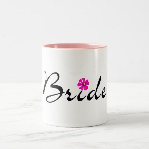 Fleur de jeune mariée mug bicolore