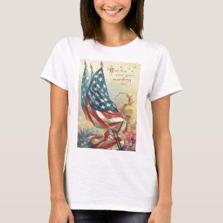 Fleur de Jour du Souvenir de drapeau des USA T-shirt