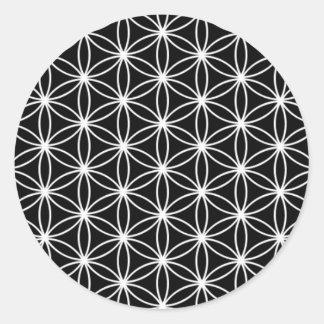 Fleur de la géométrie sacrée de la vie sticker rond