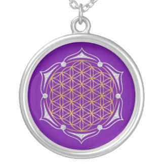 Fleur de la vie - argent d'or de Lotus Collier