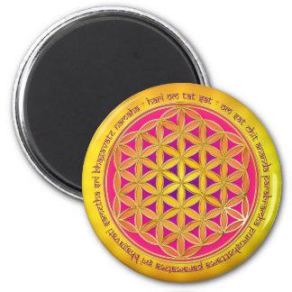 Fleur de la vie/d'incantation de Moola Magnets Pour Réfrigérateur