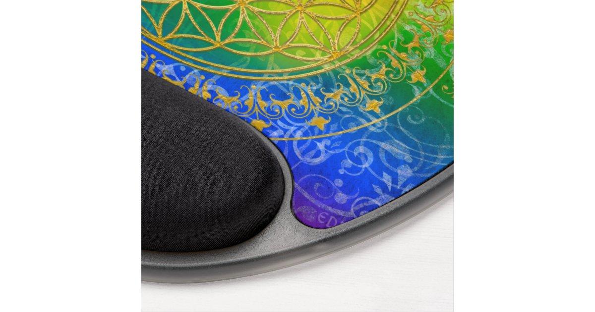 fleur de la vie or d 39 arc en ciel d 39 ornement tapis de. Black Bedroom Furniture Sets. Home Design Ideas
