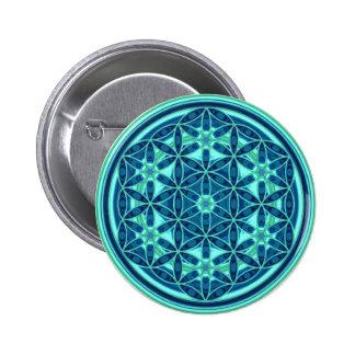 Fleur de la vie - style 01 de bouton badges