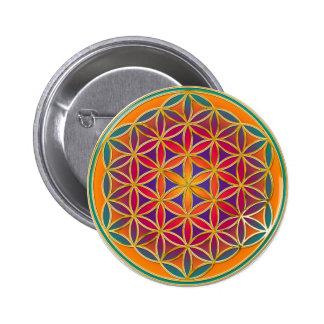 Fleur de la vie - style 03 de bouton badges