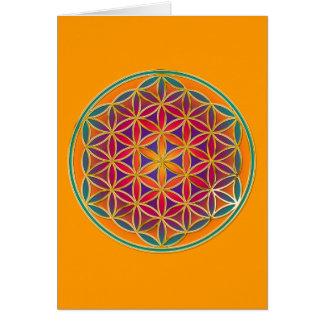 Fleur de la vie - style 03 de bouton carte de vœux