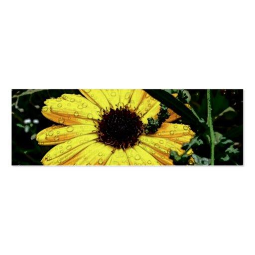 Fleur de l'amour cartes de visite personnelles