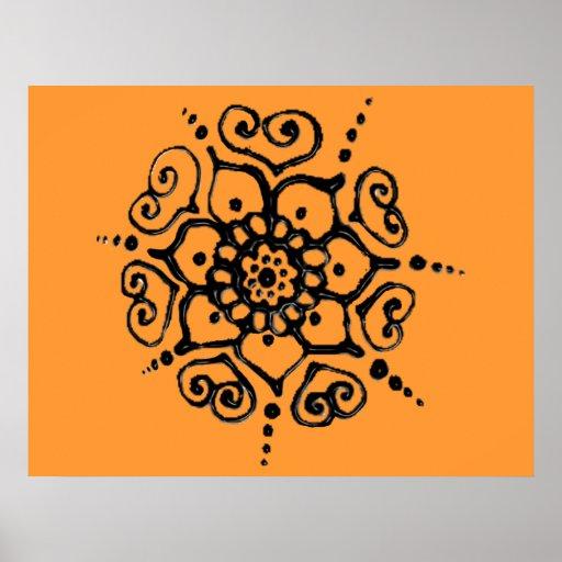 fleur de l 39 amour henn affiches zazzle. Black Bedroom Furniture Sets. Home Design Ideas